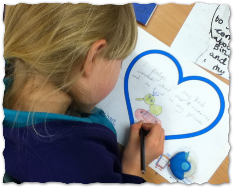 Pupil colouring in a SID heart
